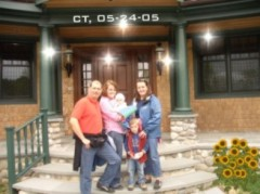 Wir f�nf in Woodbury CT. in den U.S.A may 2005